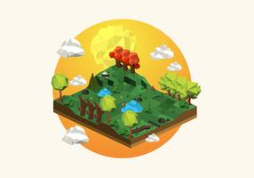 Illustration de fond de forêt Low Poly