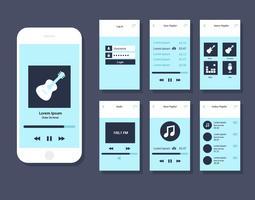 Musik Mobile App GUI Vektor