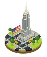New York City isometrischer Empire State Building Vector