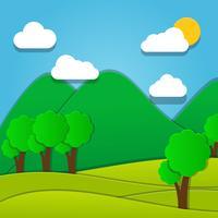 Mountain Landscape Paper Art