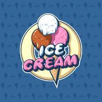 Crème glacée Cone Shop Logo vecteur