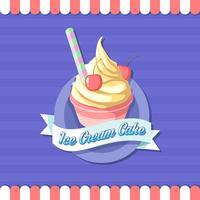 vector de logotipo de tienda de copa de helado