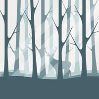 Deciduous Forest Silhouette Illustration