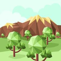 Vector Illustration Low Poly Forest
