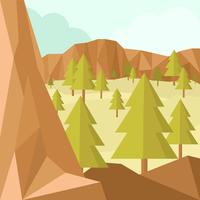 Vector illustratie Laag Poly Forest
