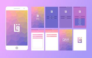 Arabic Dictionary Mobile App UI Vector