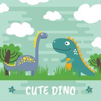 Cute Dino Vector Illustration