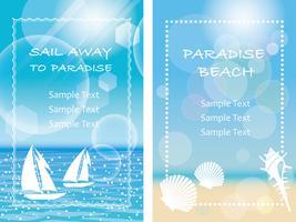Een set van twee vector zomer achtergrond / bericht frame illustraties.