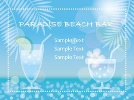 A vector summer background/message frame with tropical drinks.