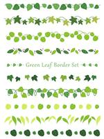 A set of assorted leaf borders.
