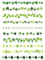 A set of assorted leaf borders.