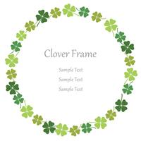 Klavertje vier cirkelvormig frame.
