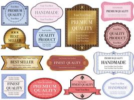 A set of assorted labels with text spaces.