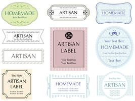 A set of assorted ten labels. vector