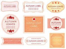 A set of assorted labels in autumn colors.