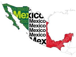 A map of Mexico.