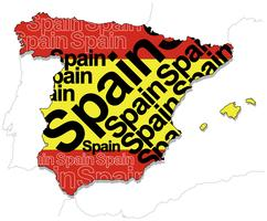 A map of Spain. vector