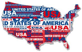 A map of the USA. vector