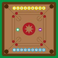 Carrom Board Vector Illustration