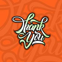 Freehand Thank You Typography Free Vector