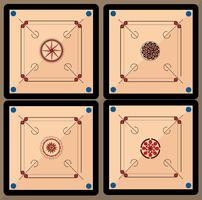 Carrom Board Vector Pack