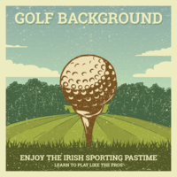 vintage golf illustration
