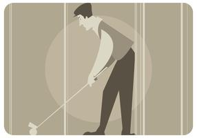 Vintage Golf Player Vector
