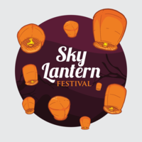himmel lykta festivalen illustration