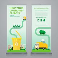 Business Roll Up. Standee Design. Plantilla de banner.