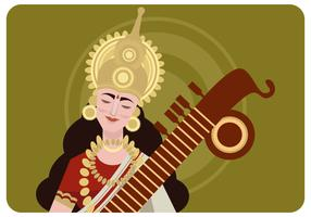 Saraswathi Devi Vektor