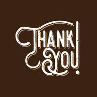 Thank You Typography Vintage Style