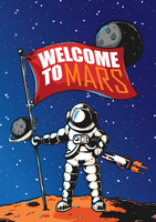 Mars exploratie illustratie