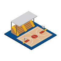 Basketball Court Isometric Vector