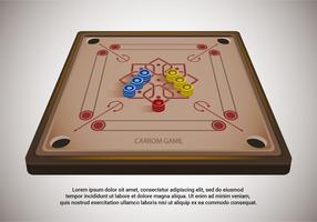 Carrom Tabelle Vektor-Illustration