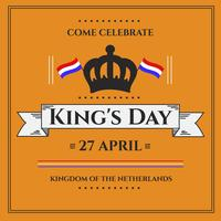 Kings Day Festival Poster Vector