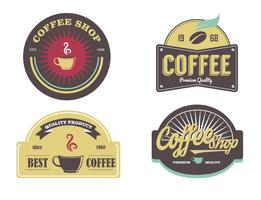 Coffee Shop Logo Etikett Vector Pack