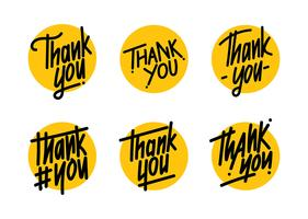 Tack typografivektorn