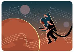 Mars aus dem Weltraum Vektor