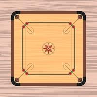 Carrom Board Illustration