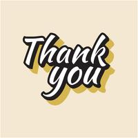 Vintage Thank You Lettering Design