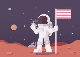 Mars exploratie illustratie