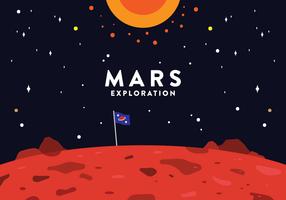 Vecteur d'exploration de Mars