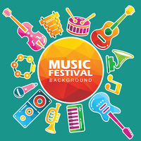 Music Festival Background vector