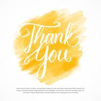 Thank You Lettering Vector