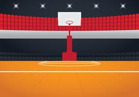 Realistic Basketball Arena vector