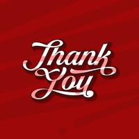 Custom Script Thank You Typography Free Vector