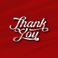 Script personnalisé Merci typographie vecteur libre