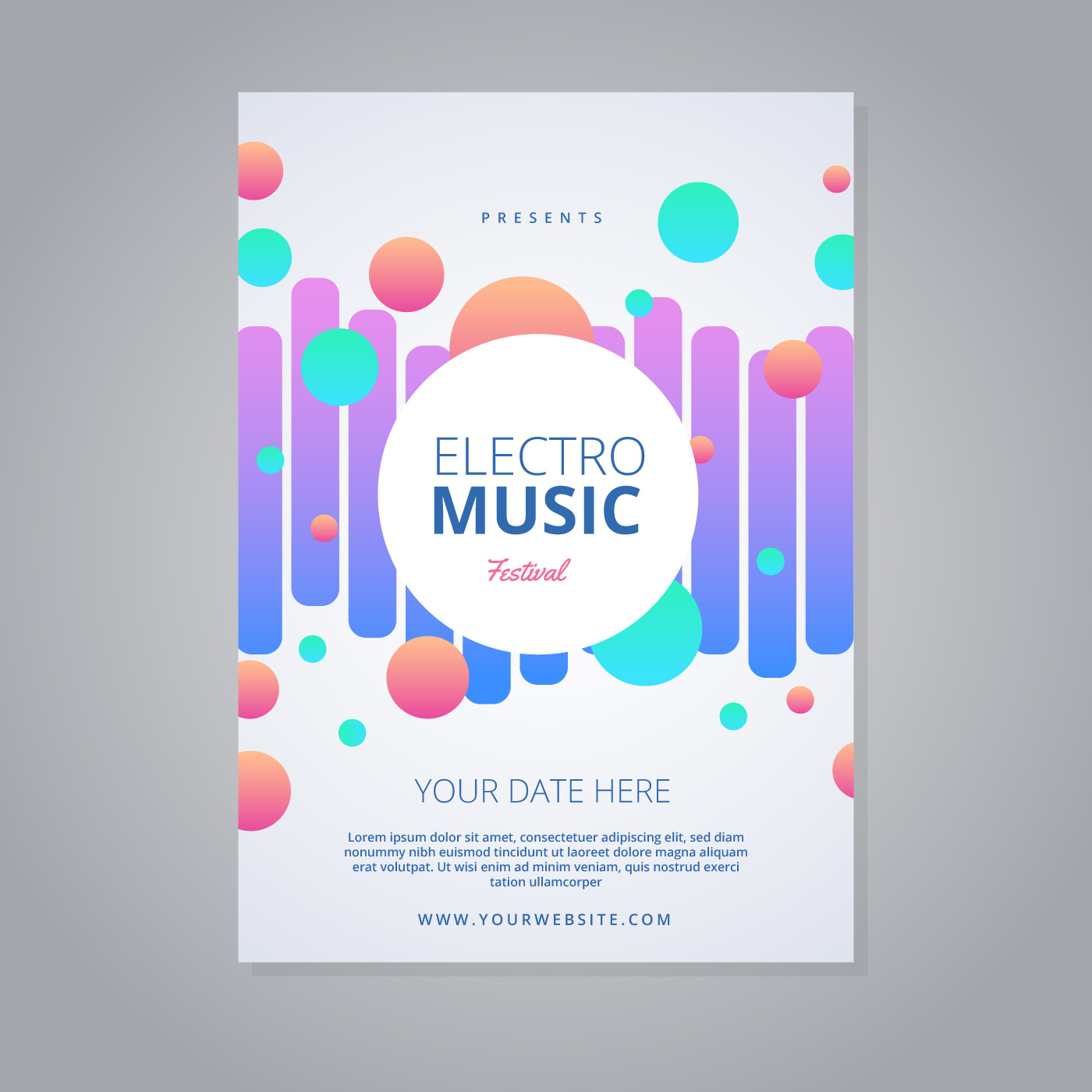 Electro Music Festival Flyer - Download Free Vector Art, Stock ...