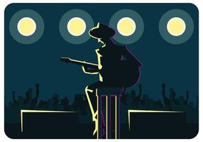 Musician on Stage Vector