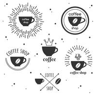 Ensemble de Logo Coffee Shop